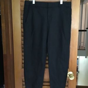 VINCE BLACK LINEN SLOUCHY JOGGER CHINO PANTS. 4